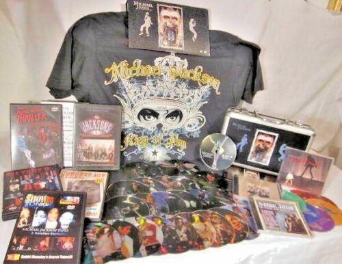 Michael Jackson 5,  HUGE lot of music CDs, movie DVDs, T-shirt, rare interviews!