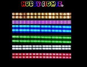 MODEL-RAILWAY-LED-LIGHTING-STRIP-5-COLOURS-6-SIZES-12-VOLTS-00-GAUGE