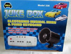 WOLO JUKE BOX MUSICAL VEHICLE HORN 12 VOLT DC