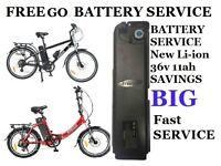 FREEGO Electric BIKE BATTERY SERVICE Big Savings .
