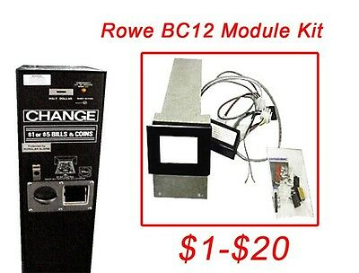 Rowe Bc12 1-20 Dollar Bill Changer Update Kit To Install A Mars Mei Acceptor