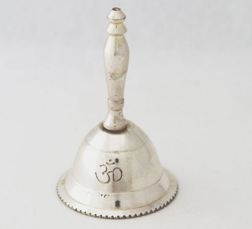 """3"""" Inchs High Beautiful OM SIGN Altar BELL Wicca Pagan FREE SHIPPING"""