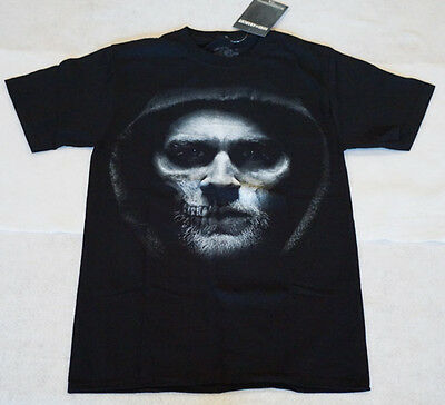 Sons of Anarchy T-shirt Jax Face Short Sleeve Black Small Unisex New SOA