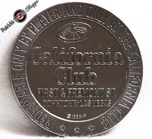 $1 SLOT TOKEN COIN CALIFORNIA CLUB CASINO 1966 FM FRANKLIN MINT LAS VEGAS NEVADA