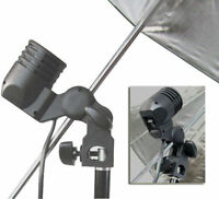 Swivel studio photo E27 flash strobe bulb umbrella holder light