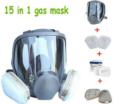 15 In 1 Suit For 6800 Gas Mask Full Facepiece Reusable Respirator Full Face