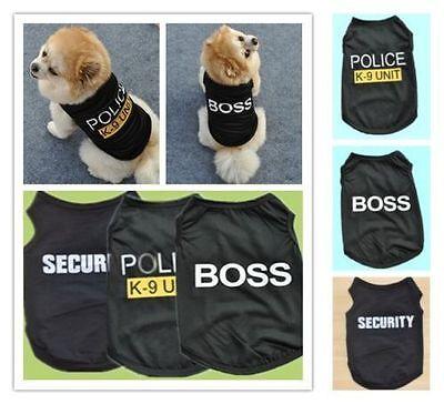 Cat Small Dog Puppy Vest T-Shirt Coat Pet Clothes Summer Apparel Costumes Black