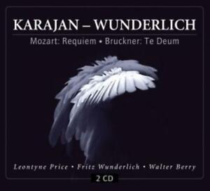 Karajan - Wunderlich. Mozart: Requiem / Bruckner: Te Deum, 2 Audio-CDs