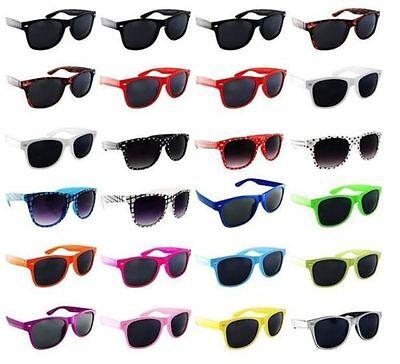24 Pack PAIR LOT Sunglasses Retro Wholesale Dark Lens Nerd Party Favor - Plastic Party Glasses Wholesale