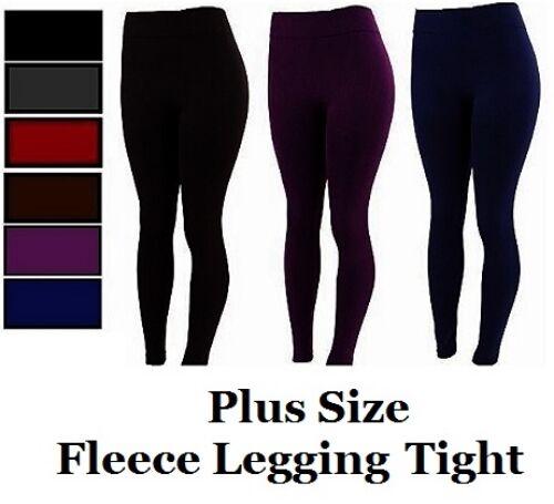 Leggings - Women's PLUS SIZE Seamless FOOTLESS Warm Thick Fleece Leggings #SK300X 1X 2X 3X