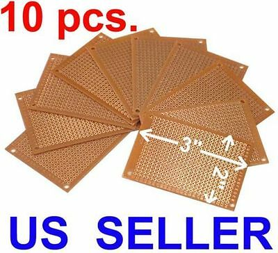 10pcs DIY Prototype Paper PCB Universal Experiment Matrix Circuit Board 5 x 7cm