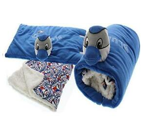 "Toronto Blue Jays MLB Sherpa Baby Fleece Blanket 31"" x 34"" & Plush Pillow Set"