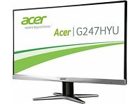 "Acer Gaming G247HYU WQHD 2K MONITOR ""boxed"" RPP 249£"