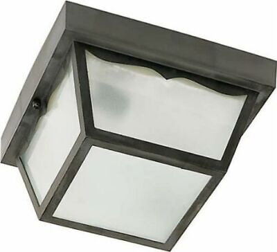 "Nuvo 77-863 - 8"" Carport Outdoor Ceiling Fixture with Frosted Acrylic Panels"