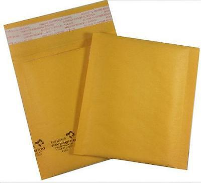 "Pack of 100 #MINI™ 4x5"" Self Seal Kraft Bubble Mailers Envelopes Padded Smallest"