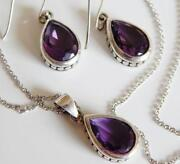 Vintage Sterling Amethyst Earrings