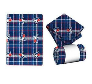 MLB Travel Blanket Plaid - Toronto Blue Jays Fleece Throw