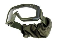 Bollé Low profile ballistic goggles - X1000 Tactical OD green - anti-scratch and anti-fog coatings
