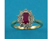 9092812 - 18ct Gold, Ruby & Diamond Ring
