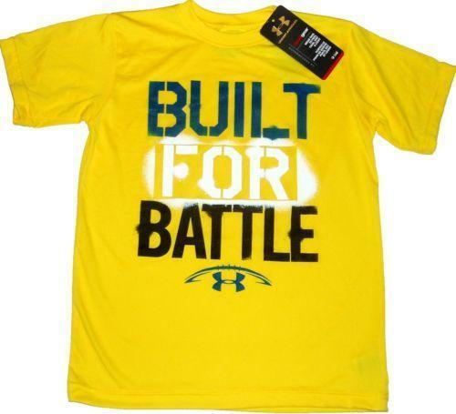 Under armour youth football shirt ebay for Under armour swim shirt youth