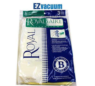 3 Royal / Dirt Devil Type B Metal Upright Vacuum Bags part n