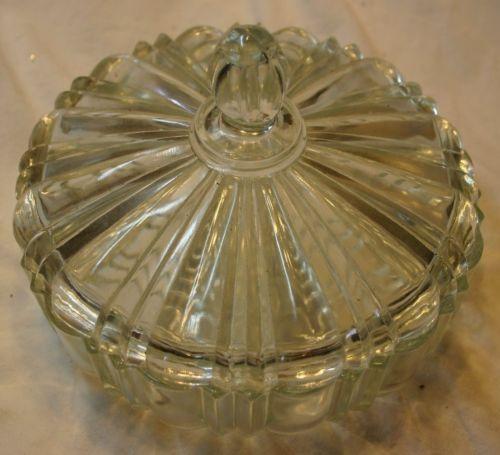 Cut Glass Powder Dish