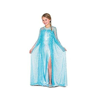 Costume Regina del Ghiaccio Elsa Frozen Carnevale Bambina Taglia 7/9 Anni Nuovo