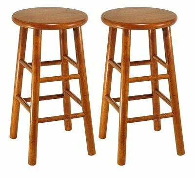 Winsome Beveled Seat (Set of 2, Beveled Seat, 24inch Stool, Assembled-Winsome 75284)