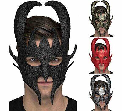 Demonio Maschera Halloween Ballo in Maschera Vestito Costume Corna di Demone](Maschera Di Halloween)