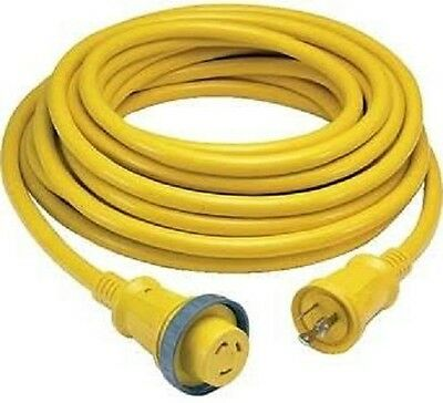 Boat Shore Power Cord Marine Cable Set Cordset 30A 125V  50'  Hubbell  61CM08 30a 125v Shore Power Cable