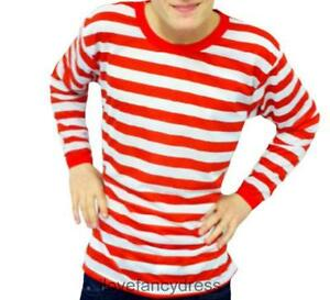 Long sleeve stripe top ebay for Mens red and white striped dress shirt