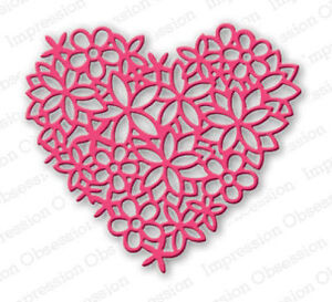 HEART LACE DIE-Impression Obsession (054S) suitable for most die cutters