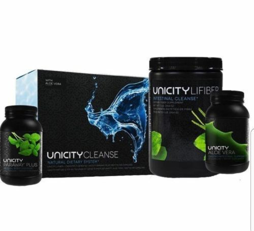 "Unicity Cleanse with Aloe Vera ""Paraway Pack"" Natural Digestive Dietary Fiber"