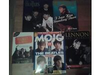 COLLECTION OF BEATLES RELATED BOOKS AND MAGAZINES - WITH 1 INTERVIEW CD FOR SALE