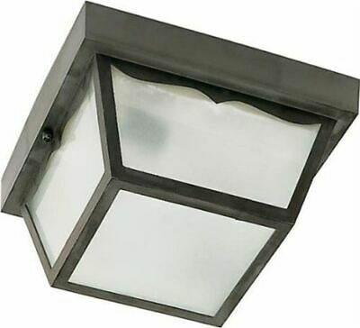 "Nuvo 77-891 - 10"" Carport Outdoor Ceiling Fixture with Frosted Acrylic Panels"