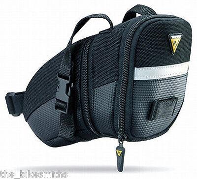 Topeak Large Aero Wedge TC2262B Bike Seat Bag Saddle Pack QR Straps Black