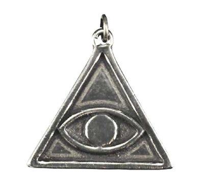 All seeing eyeebay 1 avert evil eye double sided amulet all seeing eye in pyramid illuminati triangle mozeypictures Images