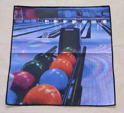 digital print bowling microfiber suede towel 16