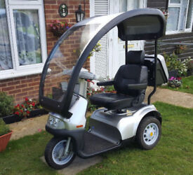TGA Breeze S3 8mph Mobility Scooter + Hard Top Roof Canopy