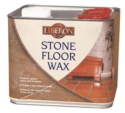 Liberon Stone Floor Wax 2.5 Litre Protects Stone, Slate, Terracotta -