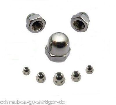 Hutmuttern 6 mm DIN 1587  M6  Edelstahl A2  10 Stk. ** Profi-Qualität **