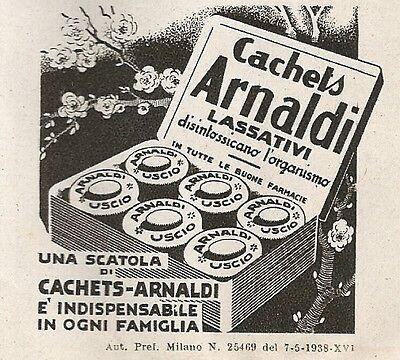 W1568 Cachets Arnaldi - Lassativi - Pubblicità del 1938 - Vintage advertising