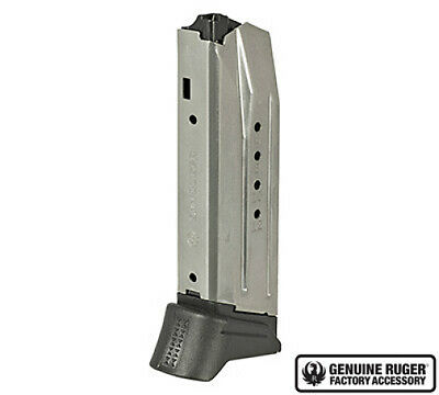 Ruger American Compact Magazine 10 Round 9mm Mag-2 Base Plates-90617