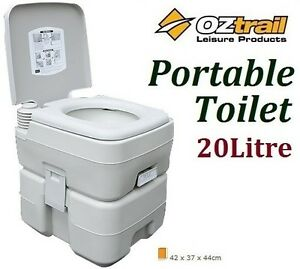OZTRAIL-PORTABLE-20-LITRE-FLUSH-CAMP-CAMPING-OUTDOOR-TOILET-BRAND-NEW