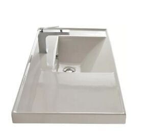 Brand-new wall-mounted ceramic bathroom sink