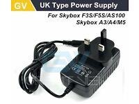 Skybox F5S F5 F4S F4 F4S F3 Power Supply, Mains Adapter 12V 2A, Genuine OPENBOX