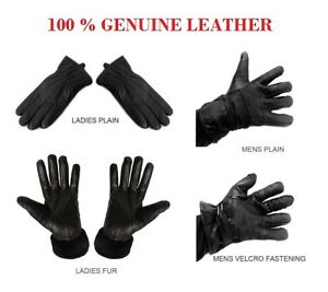 Real-Genuine-Soft-Nappa-Leather-Gents-Mens-Ladies-Driving-Winter-Gloves-Fur