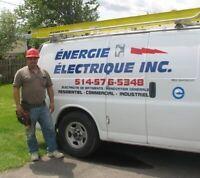 Maître électricien - Master electrician - 30 ans d'expérience