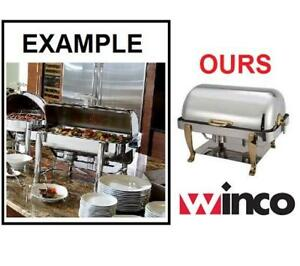 NEW WINCO FULL SIZE CHAFER 108A 135788821 GOLD PLATED HANDLE AND LEG