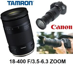 NEW TAMRON 18-400MM F/3.5-6.3 DI II VC HLD ZOOM LENS FOR CANON